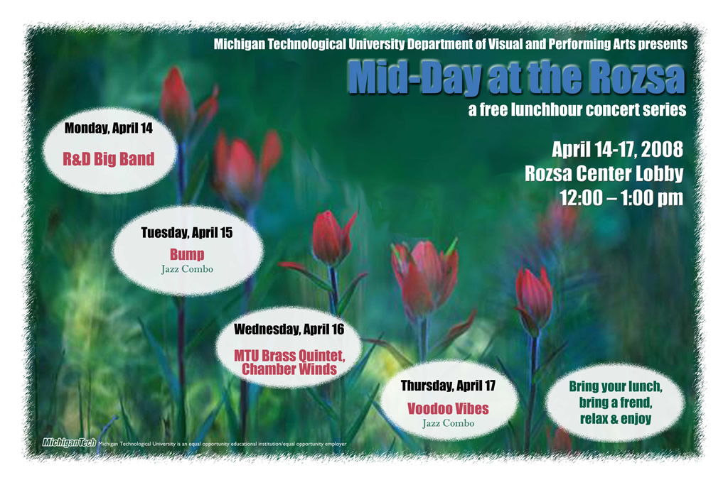 MTU Visual and Performing Arts - Gallery - Event Posters